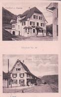 Station Tecknau, Gasthof Z. Gieren, Bahnhof, Chemin De Fer (11.6.1922) - BL Basle-Country