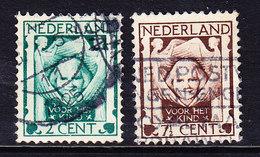 PAYS BAS Y&T N° 159/60, CANCELED . (8A216) - 1891-1948 (Wilhelmine)