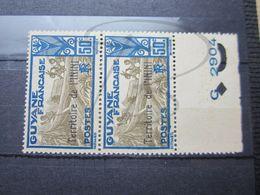 VEND BEAUX TIMBRES D ' ININI N° 12 EN PAIRE + BDF , (X) !!! - Inini (1932-1947)