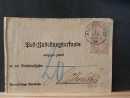 74/617   FRAGMENT DE LETTRE  BAYERN  SURCHARGE  ROUGE - Bavaria