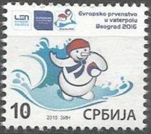SRB 2015-ZZ75 EU CHAMPIONSHIP IN WATERPOLO, SERBIA, 1 X 1v, MNH - Serbien
