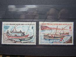 VEND BEAUX TIMBRES DE LA COTE FRANCAISE DES SOMALIS N° 320 + 321 , X !!! - Unused Stamps