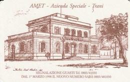 CALENDARIO TASCABILE - AMET TRANI - Anno 1998 - Calendari