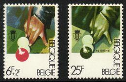 Belgium 1982 Mi. 2091 2095 MNH, Sports Billiards, Billard, Biljarten - Stamps
