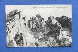 Cartolina Dolomiti - Fulmini Di Brenta Visti Dal Daino - 1920 Ca. - Trento