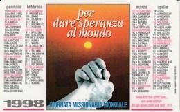 CALENDARIO TASCABILE - GIORNATA MISSIONARIA MONDIALE - Anno 1998 - Calendari