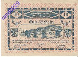 """Österreich Austria Notgeld 10 Heller FS600I Error """"Hutschein"""" - """"Gutschein"""" MAUTERN /210M/ - Autriche"""