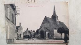 45 - CPA Animée, Calèche BIGNON-MIRABEAU (Loiret) - L'Eglise - Otros Municipios