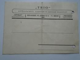 OK42.25  Hungary    TRIO Car Parts  Budapest  1948 - Vieux Papiers