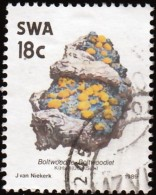 SOUTH WEST AFRICA - Scott #631 Boltwoodite / Used Stamp - Minerals