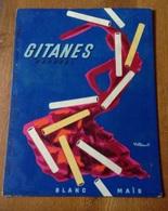 Rare Plaque Carton Publicitaire Publicité Cigarettes Gitanes Dessin Villemot Années 1950 - Paperboard Signs