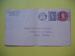 Devant De Lettre Avec Cachet Madisson SO Stan 1924  Sur Entier Postal UNITED STATES POSTAGE 2 CENTS Et Complément De 3 C - United States