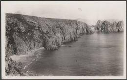 Cliffs At Treen, St Levan, Cornwall, C.1930s - RP Postcard - England
