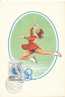 D32619 CARTE MAXIMUM CARD 1973 CZECHOSLOVAKIA - FIGURE SKATING CP ORIGINAL - Figure Skating