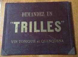 Sous Main  TRILLES Buvard Publicitaire Publicité Vin Apéritif Banyuls Perpignan - Paperboard Signs