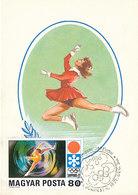 D32620 CARTE MAXIMUM CARD 1971 HUNGARY - FIGURE SKATING OLYMPICS SAPPORO CP ORIGINAL - Figure Skating