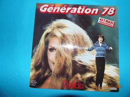 DALIDA 1978 GENERATION 78 DISQUE 45 TOURS MAXI VERSION INTEGRALE AVEC BRUNO GUILLAIN ORLANDO - 45 T - Maxi-Single