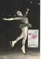 D32623 CARTE MAXIMUM CARD 1962 CZECHOSLOVAKIA - FIGURE SKATING CP ORIGINAL - Figure Skating