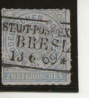 Percés En Ligne. - Norddeutscher Postbezirk