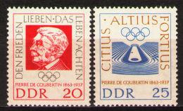 Germany, DDR, GDR, 1963, Olympic Games, De Coubertin, MNH, Michel 939-940 - [6] République Démocratique