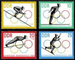 Germany, DDR, GDR, 1963, Olympic Winter Games Innsbruck, Ski Jump, Sports, MNH, Michel 1000-1003 - [6] République Démocratique