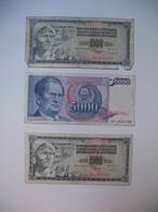 Lot De Billet  Yougoslavie    Lot De 3 - Brésil