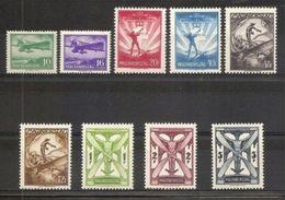 1933 Ungheria Hungary AEREA SOGGETTI VARI  AIRMAIL Serie Di 9v. (A26/34) MLH* - Posta Aerea