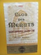 6873 - Clos Des Menuts 1982 Saint-Emilion - Bordeaux