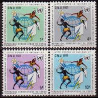 CONGO DR. 1971 - Scott# 723-6 Racial Year Set Of 4 MNH - Democratic Republic Of Congo (1964-71)