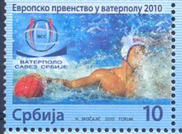 SRB 2010-ZZ34 EU CAHAMPIONSHIP IN WATER POLO, SERBIA, 1 X 1v, MNH - Serbie