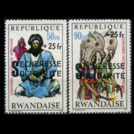 RWANDA 1975 - Scott# B2-3 Drought Opt. Set Of 2 MNH - Ruanda