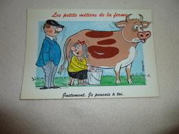 BELLE ILLUSTRATION HUMORISTIQUE ...BELLES PENSEES...LES METIERS DE LA FERME - Alexandre