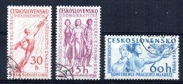 Czechoslovakia - 1958 - Cultural & Political Events - Used - Czechoslovakia
