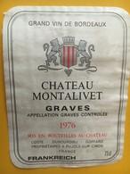 6884 - Château Montalivet 1976 Graves.... Frankreich - Bordeaux