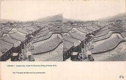 ¤¤   -   CHINE   -   Aspect Des Villes Du YUNNAN ( TONG TCHUAN FOU )  -  Carte Stéréo    -  ¤¤ - Chine