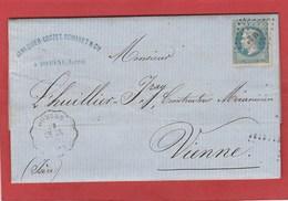 LSC - Cachet Convoyeur Station - Domène (Isère) Sur N°29 - 1868 - Postmark Collection (Covers)
