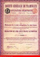 Société Générale De Tramways Et D'Appilations D'Électricité - Ferrocarril & Tranvías