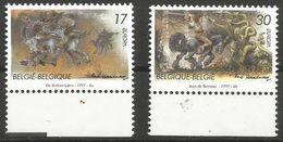 Belgium - 1997 Europa (legends) MNH **    Sc 1643-4 - Unused Stamps