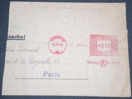 ALLEMAGNE - Affranchissement Mécanique De Berlin Sur Grand Fragment En 1935 - L 13043 - Allemagne