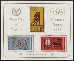 Greek Cyprus, 1964, Olympic Summer Games Tokyo, Sports, MNH, Michel Block 2 - Autres - Europe