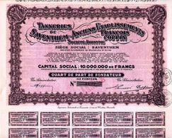 Tanneries Saventhem-Anciens Etablissments Fracois Coppin - Acciones & Títulos