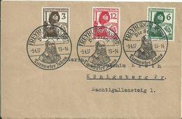 1937 Deutsches Reich Complete Set On Freyburg-Unstrut Brief - Duitsland