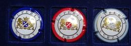 3 Plaque De Muselet De Champagne Cuperly Complet - Autres