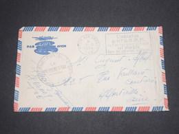 FRANCE - Enveloppe Illustrée Asiatique En FM Du Secteur Postal 72 - 269 Pour La France En 1954 - L 13049 - Marcophilie (Lettres)