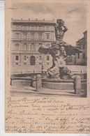 Roma Fontana Del Tritone 1900 Annullo Tondoriquadrato Modena - Roma
