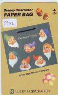 Télécarte Japon DISNEY / 110-011 * CHARACTER * PAPER BAG * THE SEVEN DWARFS (5942) Phonecard JAPAN * CINEMA TELEFONKARTE - Disney