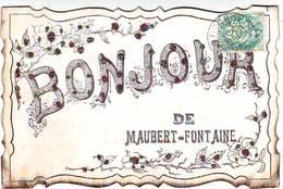 FANTAISIES . BONJOUR DE MAUBERT FONTAINE . CARTE AVEC BRILLANTS . - France