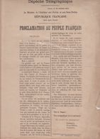 Guerre De 1870 - Depeche Telegraphique - 30 Octobre 1870 - Tours - Gambetta - Metz - Documents Historiques