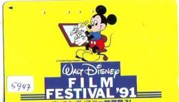 110-011 - DISNEY (5947) MICKEY / FILM FESTIVAL 1991 - Japan Phonecard Telefonkarte - Disney