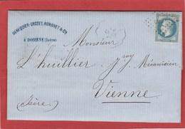 LSC - Cachet Convoyeur Station - Domène (Isère) Sur N°29 - 1868 - Frappe Faible - Postmark Collection (Covers)